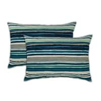 Sherry Kline Lakeview Boudoir Outdoor Pillows (Set of 2) - 13 x 19