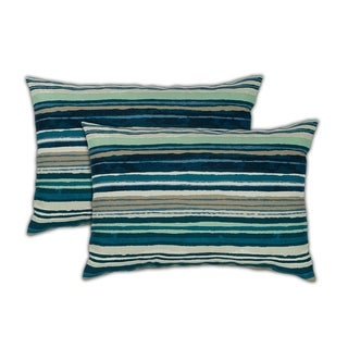 Sherry Kline Lakeview Boudoir Outdoor Pillows (Set of 2) - 13 x 19