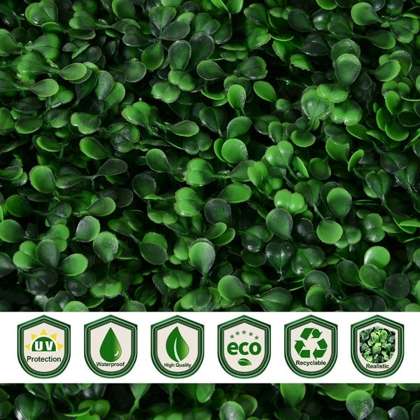 Grass Wall Backdrop for Indoor Outdoor Decor Green Outsunny 20 x 20 12 Pieces Artificial Boxwood Hedge Mat Plant Panels