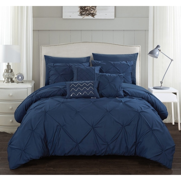 Chic Home Valentina 10 Piece Bed in a Bag Pinch Pleated Comforter Set. Opens flyout.