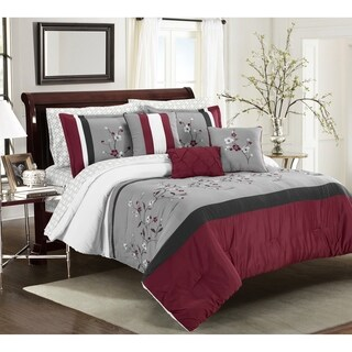 Asher Home Torrance Embroidered 10-piece Comforter