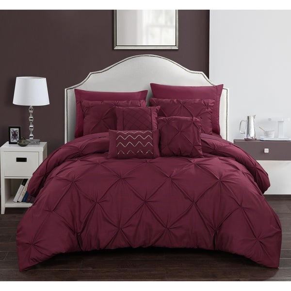 Chic Home Valentina 10 Piece Bed in a Bag Pinch Pleated Comforter Set