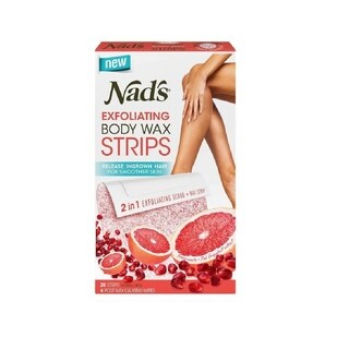 Nad's Exfoliating Body Wax Strips 20 Count + 4 Post Wax Calming Oil Wipes (3 options available)