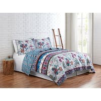 VCNY Home Floral Spell Reversible Quilt Set
