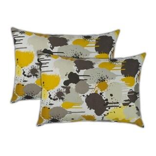 Sherry Kline Paintdrip Boudoir Outdoor Pillows (Set of 2) - 13 x 19