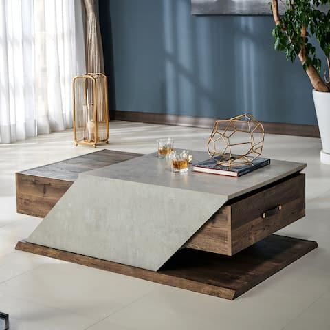 Furniture of America Soss Industrial Adjustable Coffee Table