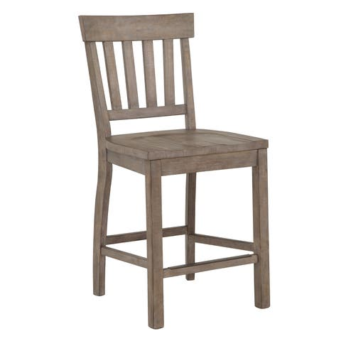 The Gray Barn Manderley Traditional Dove Tail Grey Counter Chair
