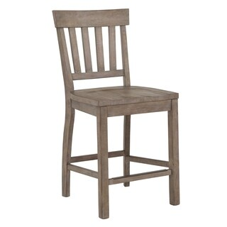 Tinley Park Traditional Dove Tail Grey Counter Chair - N/A