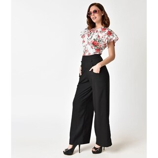 Unique Vintage Black Sailor Ginger Pants