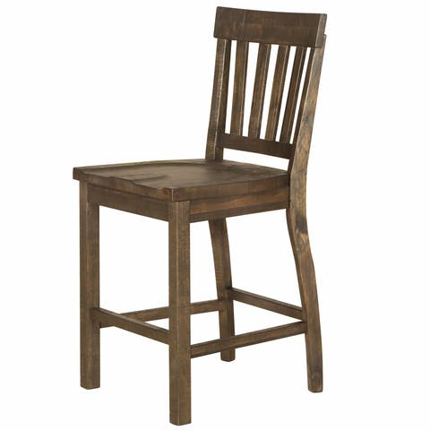 The Gray Barn Combe Magna Traditional Weathered Barley Counter Height Stool