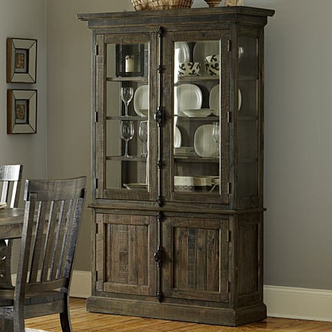The Gray Barn Kornfeld Wood China Cabinet