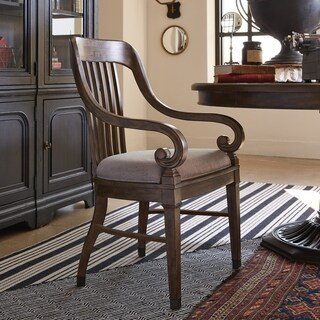 Jefferson Market Traditional Aged Whiskey Arm Chair
