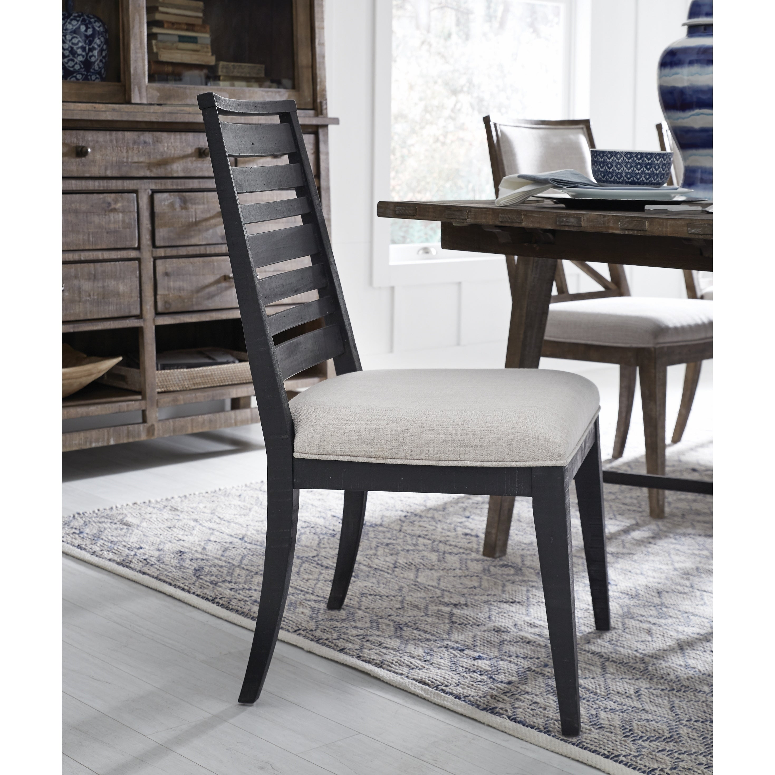 Lake Haven Rustic Washed Denim Dining Side Chair