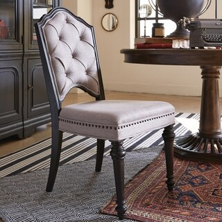 Hudson Square Traditional Upholstered Side Chair - N/A