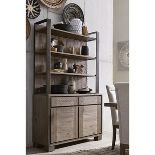 Granada Hills Contemporary Pebblestone Server with Hutch