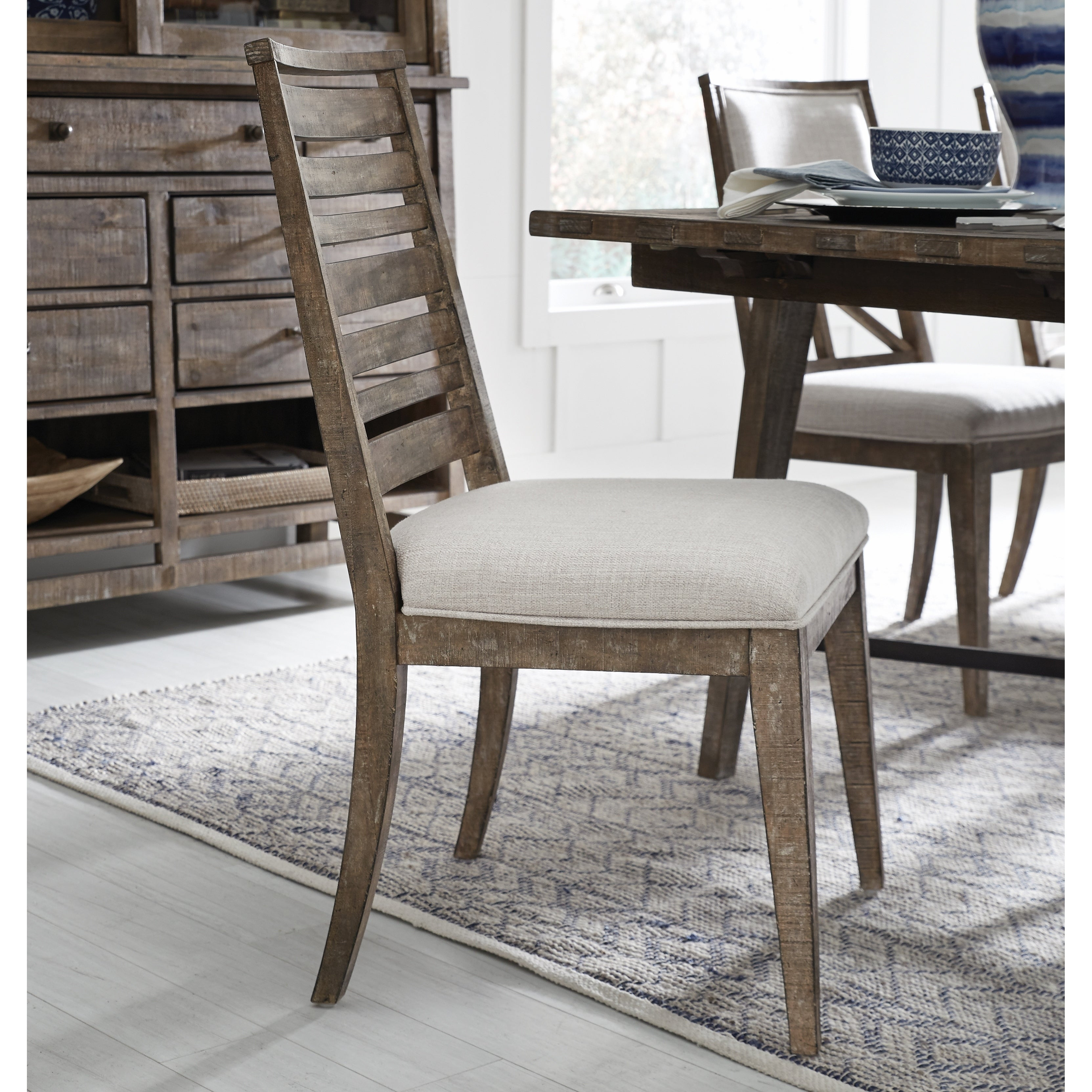Bluff Heights Rustic Weathered Nutmeg Dining Side Chair