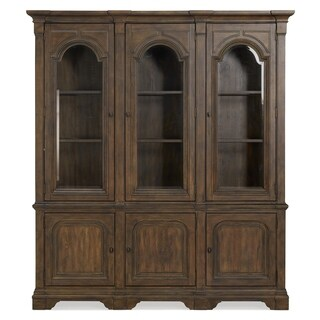 Jefferson Market Traditional Aged Whiskey China Cabinet - N/A