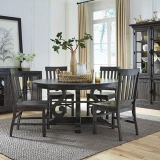 The Gray Barn Kornfeld 60-inch Round Dining Table - Peppercorn