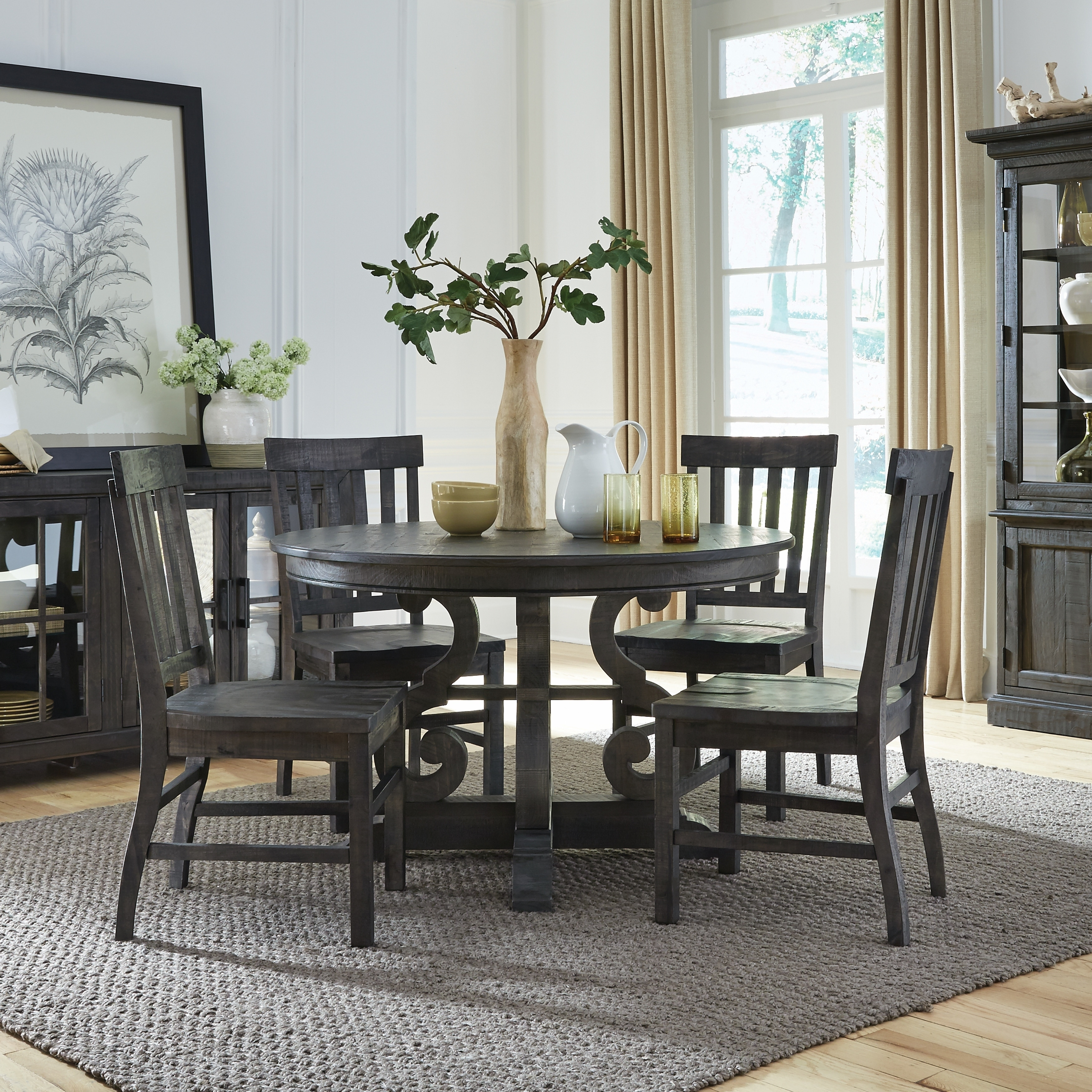 The Gray Barn Kornfeld 48-inch Round Dining Table