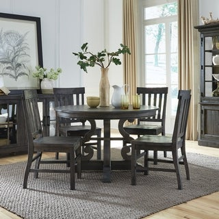 "Bellamy Traditional Peppercorn 48"" Round Dining Table - N/A"
