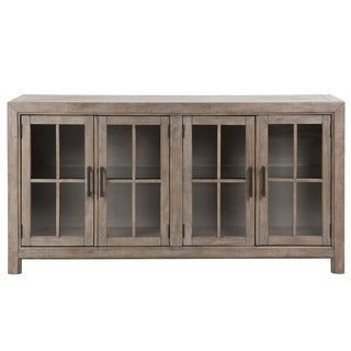 Tinley Park Traditional Dove Tail Grey Buffet Curio Cabinet