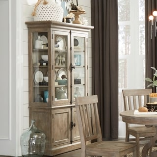 The Gray Barn Manderley Traditional Dove Tail Grey China Cabinet