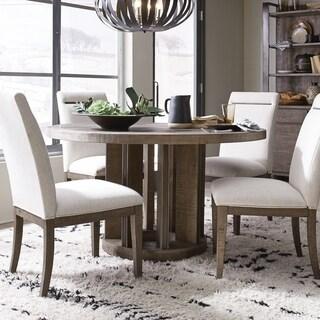 Granada Hills Contemporary Pebblestone Round Dining Table - N/A