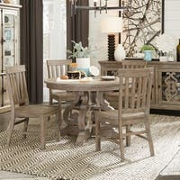 The Gray Barn Manderley Traditional Dove Tail Grey 48-inch Round Dining Table