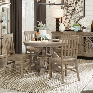 "Tinley Park Traditional DoveTail Grey 48"" Round Dining Table - dove tail grey - N/A"