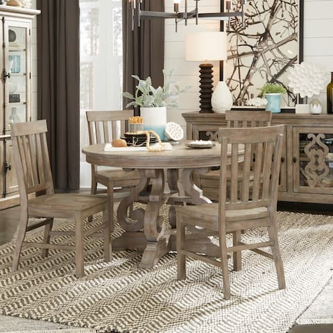 The Gray Barn Manderley Traditional Dove Tail Grey 48-inch Round Dining Table - dove tail grey - dove tail grey