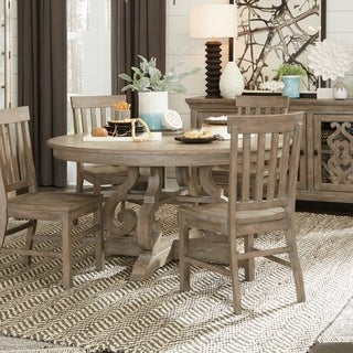 "Tinley Park Traditional DoveTail Grey 60"" Round Dining Table - dove tail grey"