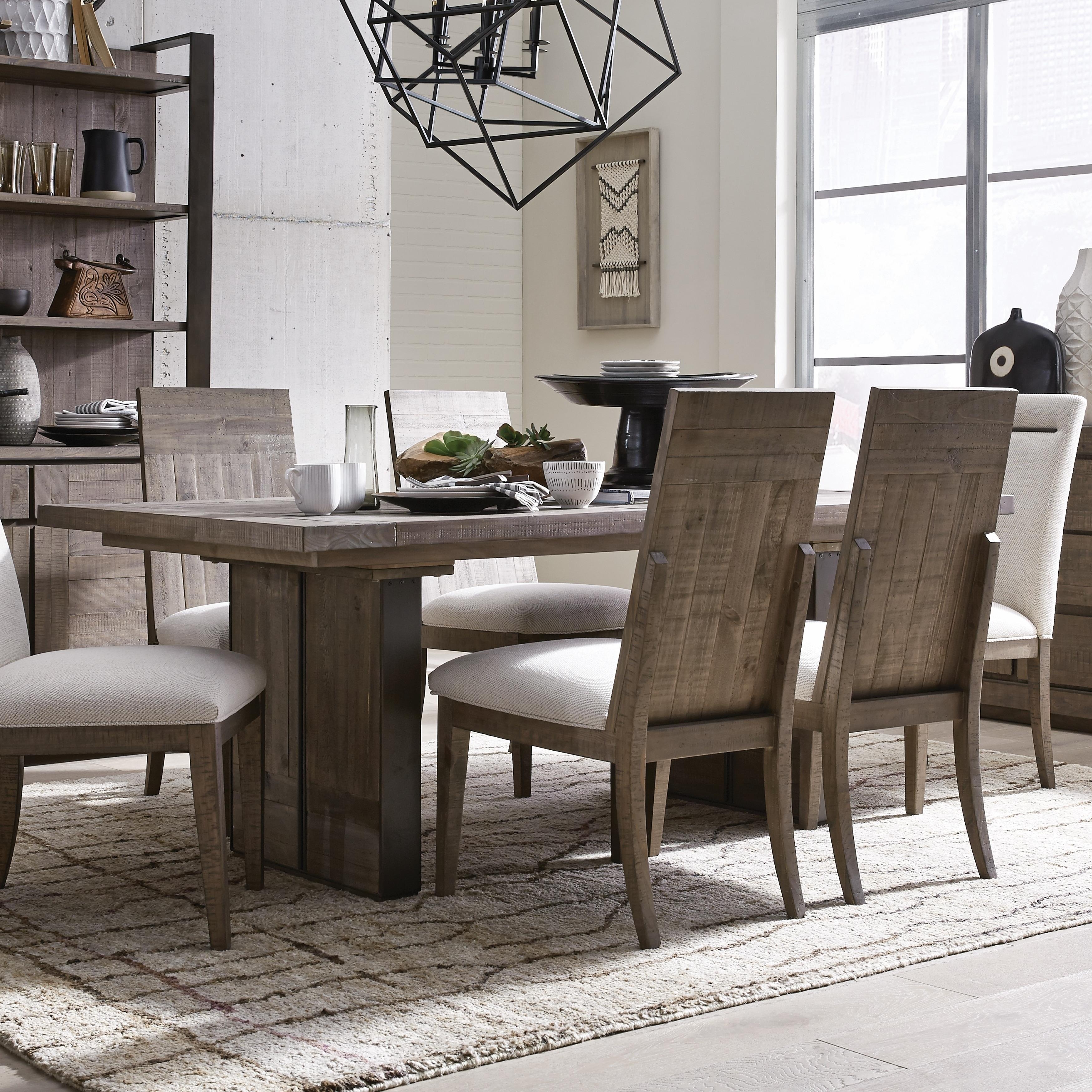 Granada Hills Contemporary Pebblestone Dining Table