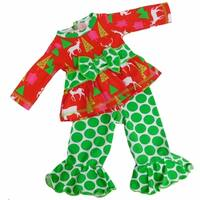 """AnnLoren Christmas Cheer 2 piece Outfit for American Girl 18"""" Dolls"""