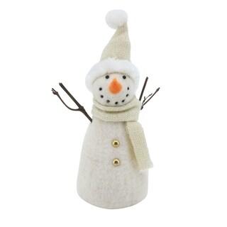 Handmade Scarf & Hat Snowman