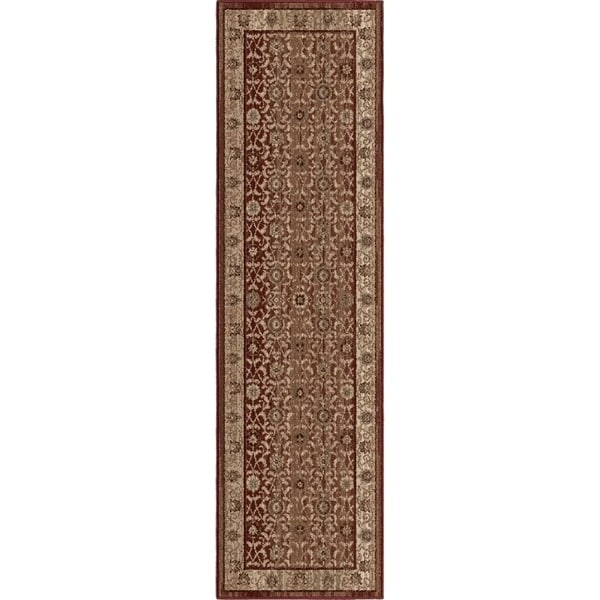 cedf7f3807 Shop Carolina Weavers Empire Collection Dumfries Red Runner - 2 3 x 8 -  Free Shipping On Orders Over  45 - Overstock - 22394266