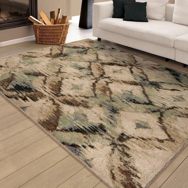Carolina Weavers Brilliance Collection Called Beige Area Rug - 5' x 8'