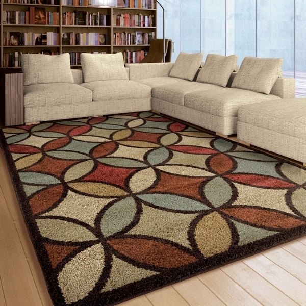 Carolina Weavers American Tradition Collection Carnivale Multi Area Rug 5 X27