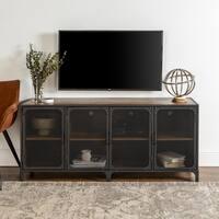 """60"""" Mesh Door Industrial TV Stand Console - 60 x 16 x 26h"""