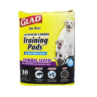 6-Pack Glad for Pets Activated Carbon Training Pads - Jumbo Size