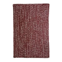 Capel Rugs Team Spirit Crimson Grey Hand-Braided Vertical Stripe Rectangle Area Rug - 7' x 9'