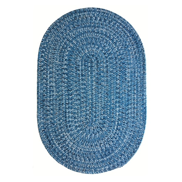 Shop Capel Rugs Team Spirit Light Blue Navy Hand-Braided