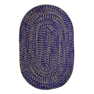 Team Spirit Purple Gold Hand-Braided Oval Area Rug - 8' x 11'