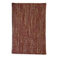 Capel Rugs Team Spirit Maroon Grey Hand-Braided Vertical Stripe Rectangle Area Rug - 7' x 9'