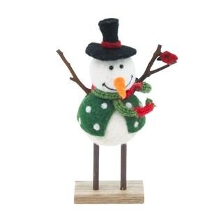 Handmade Mounted Snowman