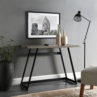 Urban Industrial Metal Wrap Writing Desk 42 Inches