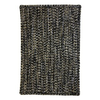 """Capel Rugs Team Spirit Black Old Gold Hand-Braided Vertical Stripe Rectangle Area Rug - 2'3"""" x 4'"""
