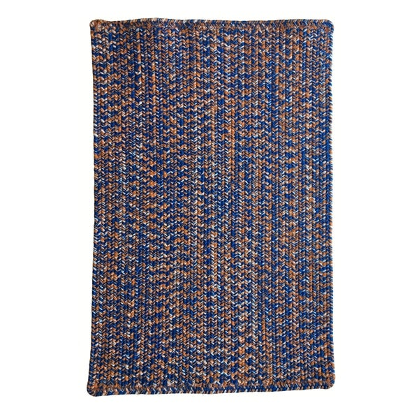 Shop Capel Rugs Team Spirit Blue Orange Hand Braided