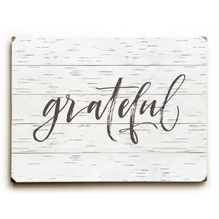 Grateful Birch - Tan  Planked Wood Wall Decor by OBC