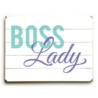 Boss Lady - Multi  Planked Wood Wall Decor by OBC