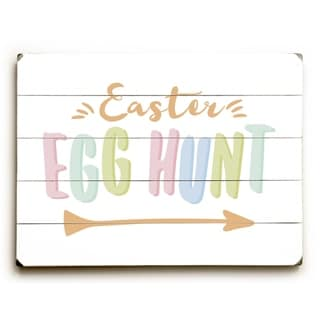 Easter Egg Hunt - Multi  Planked Wood Wall Decor by OBC